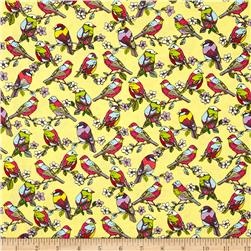 Michael Miller Spring Fling Feathered Friends Canary Fabric