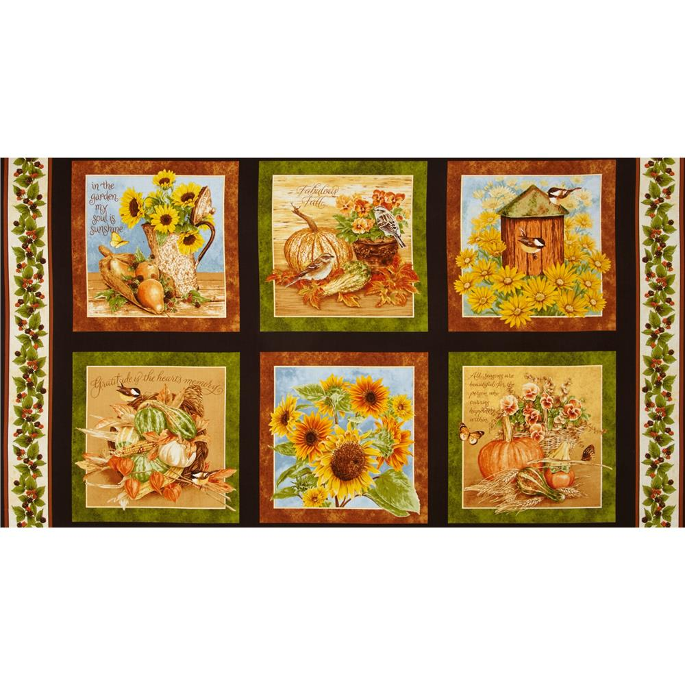 Harvest Botanical 24 In. Panel Brown
