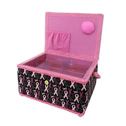 Singer Sewing Basket Pink Ribbons