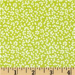 Dear Stella Calico Floral Green Fabric