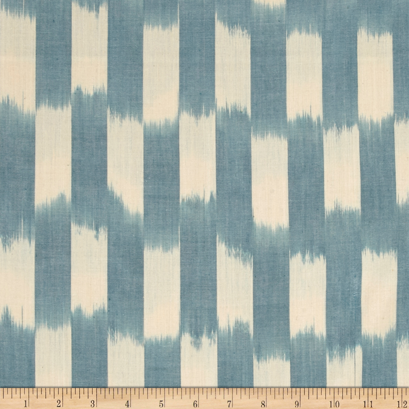 Andover Dream Weaves Ikat Patch Sky Blue Fabric by Andover & Makower in USA