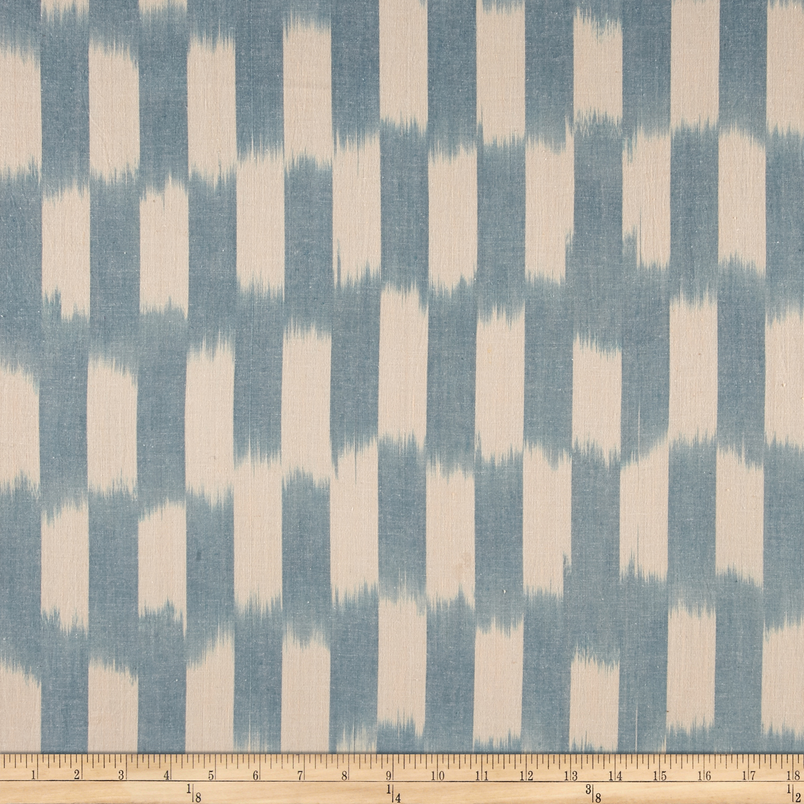 Dream Weaves Woven Ikat Check Blue Fabric by Andover & Makower in USA