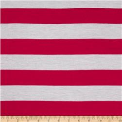 Jersey Knit Stripe Fuchsia/White