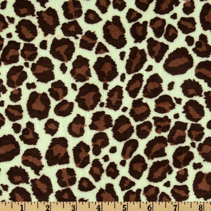 Minky Cuddle Jaguar Mint/Brown