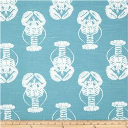 Premier Prints Lobster Slub Coastal Blue Fabric