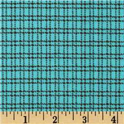 Aunt Polly's Flannel Plaid Aqua/Brown