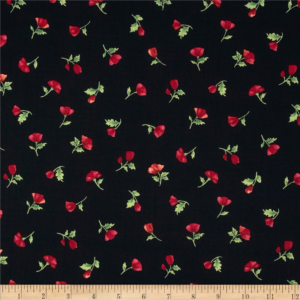 Poppy Panache Mini Bud Black/Multi