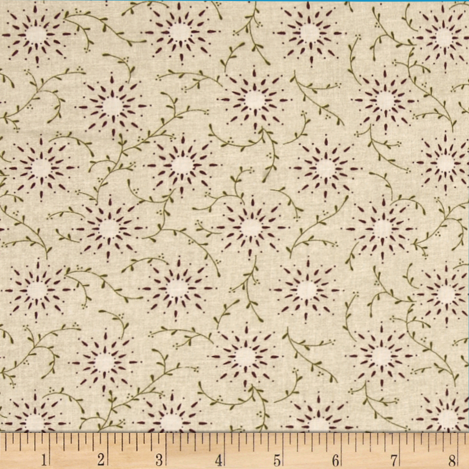 108'' Wide Quilt Backing Prairie Vine Cream Fabric