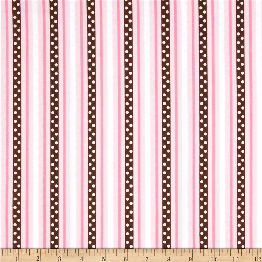 Cozy Cotton Bubblegum Stripe Pink/Brown