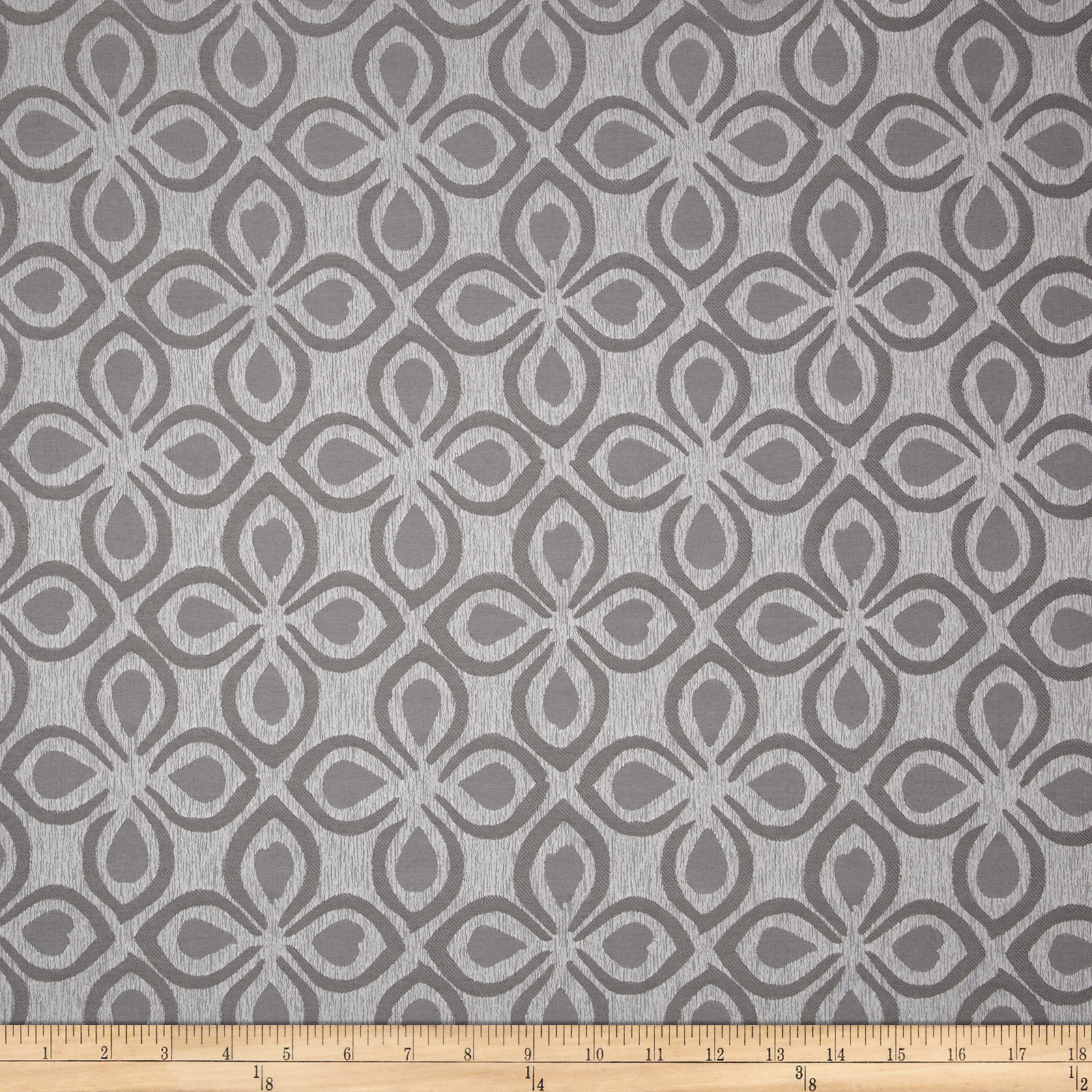 Eroica Aria Jacquard Silver Fabric by Eroica in USA