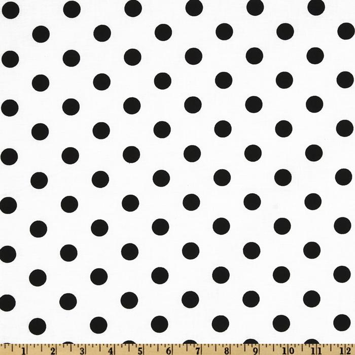 Polka Dots White/Black