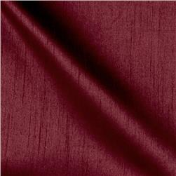 Worldly Faux Dupioni Silk Wine