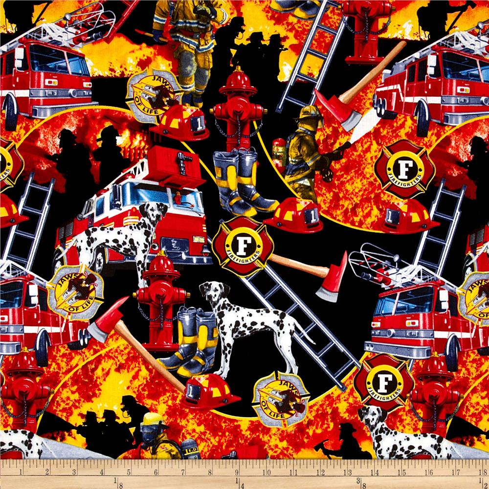 Firefighter Collage Black