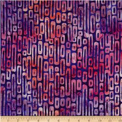 Artisan Batiks Pop Op Geo Stripe Jewel Purple