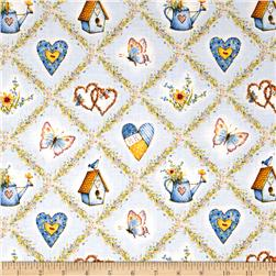 Holly Hobbie Icons In Diamonds Blue