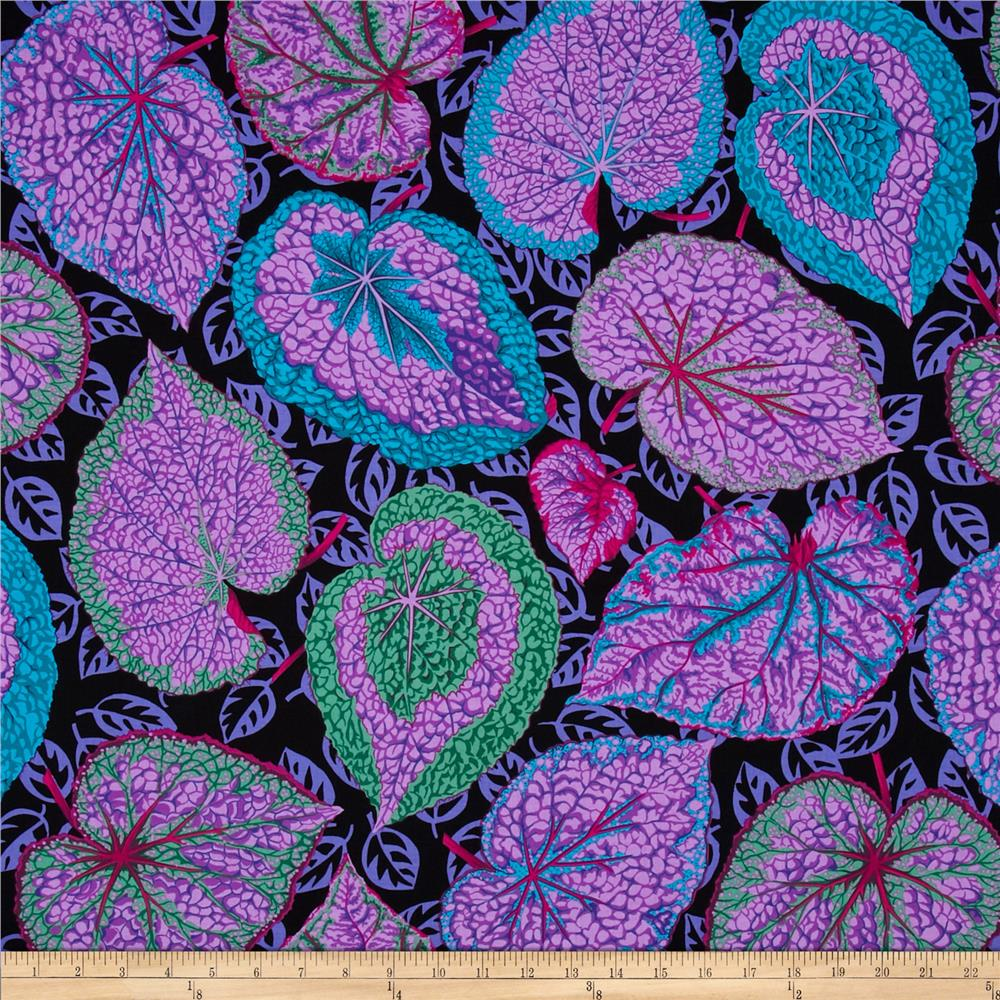 Kaffe fassett collective big leaf purple discount for Modern fabrics textiles