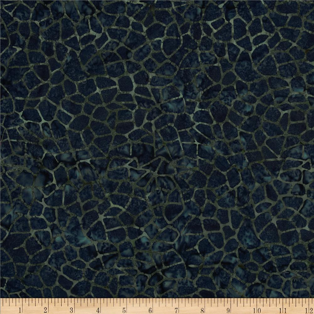 Moda Paint Box Batiks Crackle Navy