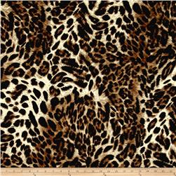 Quilted Knit Leopard Black/Brown/Khaki