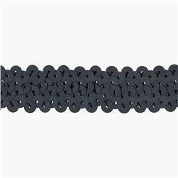 Team Spirit 3/4'' #30 Sequin Trim Gun Metal