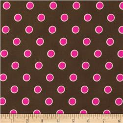 Lily's Garden Lined Dots Brown
