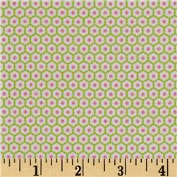 Riley Blake Flannel Snug as a Bug Flowers Green