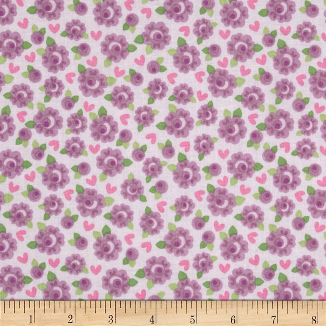 Riley Blake Lovey Dovey Roses Purple Fabric