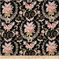 World of Romance Floral Medallion Black