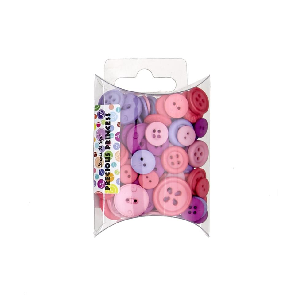 Dress It Up Color Me Collection Pillow Pack Buttons Precious Princess Pink/Lavender