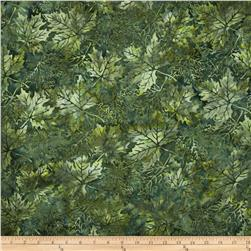 Bali Batiks Maple Leaves Meadow