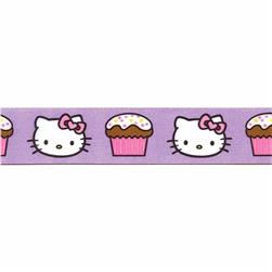 "7/8"" Hello Kitty Cupcake Ribbon Purple"