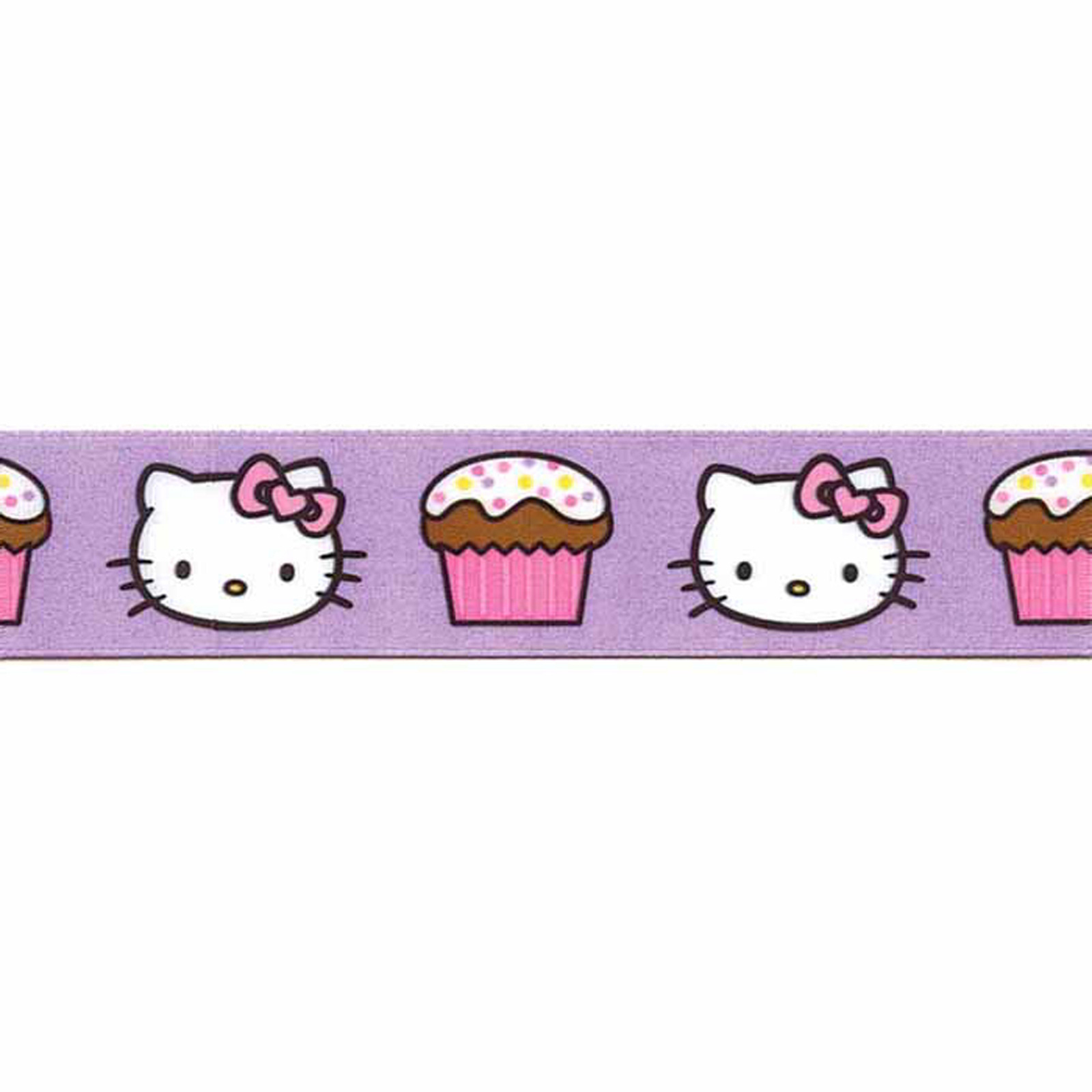 7/8'' Hello Kitty Cupcake Ribbon Purple by Stardom Specialty in USA
