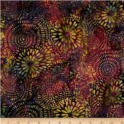 Island Batik Hollywood Hills Mixed Mums Purple/Grn/Gold