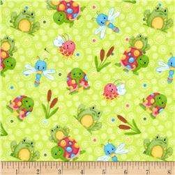 Bugs Flannel Frogs And Turtles Green