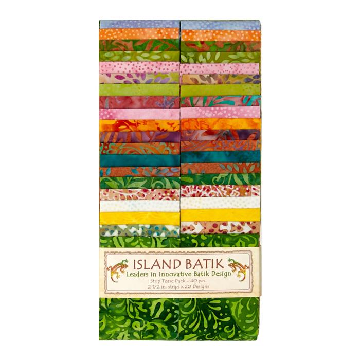 "Island Batik Dewdrop 2.5"" Strip Packs"
