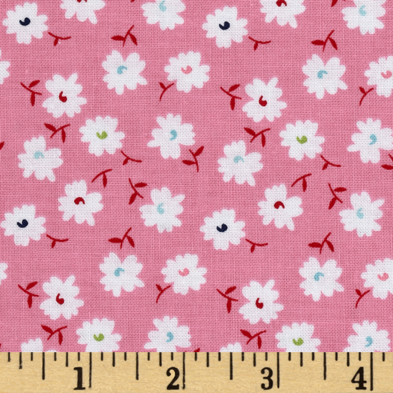 Riley Blake Vintage Happy Petals Pink Fabric