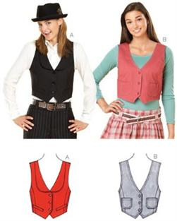 Kwik Sew Misses Cropped Vests Pattern