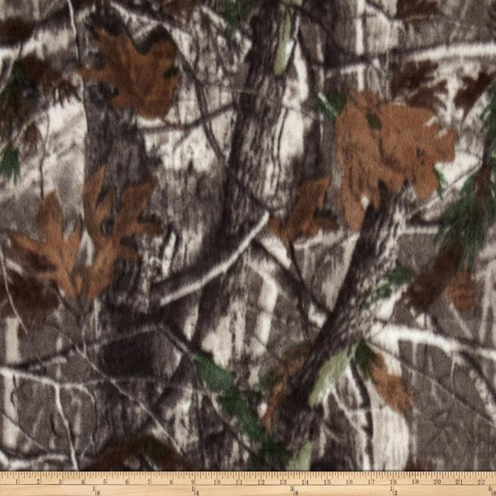 Camo Wildlife Fleece Brown Multi