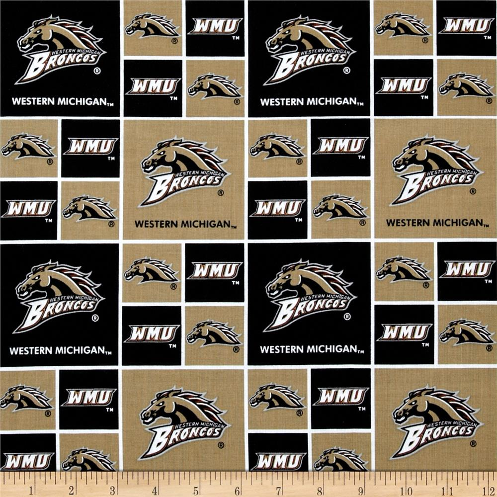 Collegiate Cotton Broadcloth Western Michigan Discount