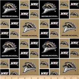 Collegiate Cotton Broadcloth Western Michigan University Gold