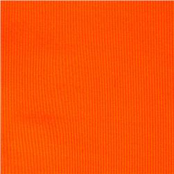 Poly Rib Knit Solid Neon Orange