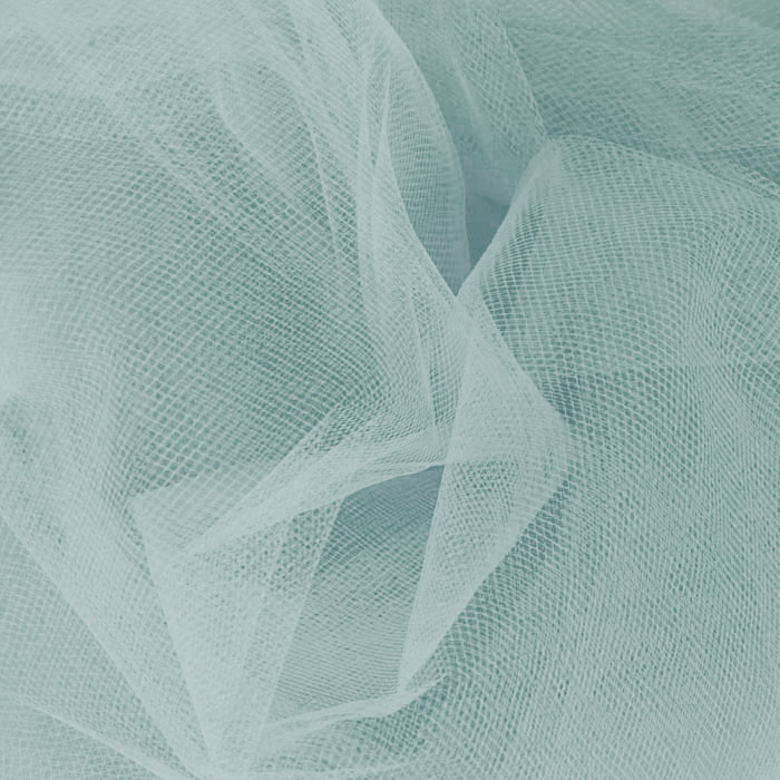 Image of 54' Wide Tulle Williamsburg Blue Fabric