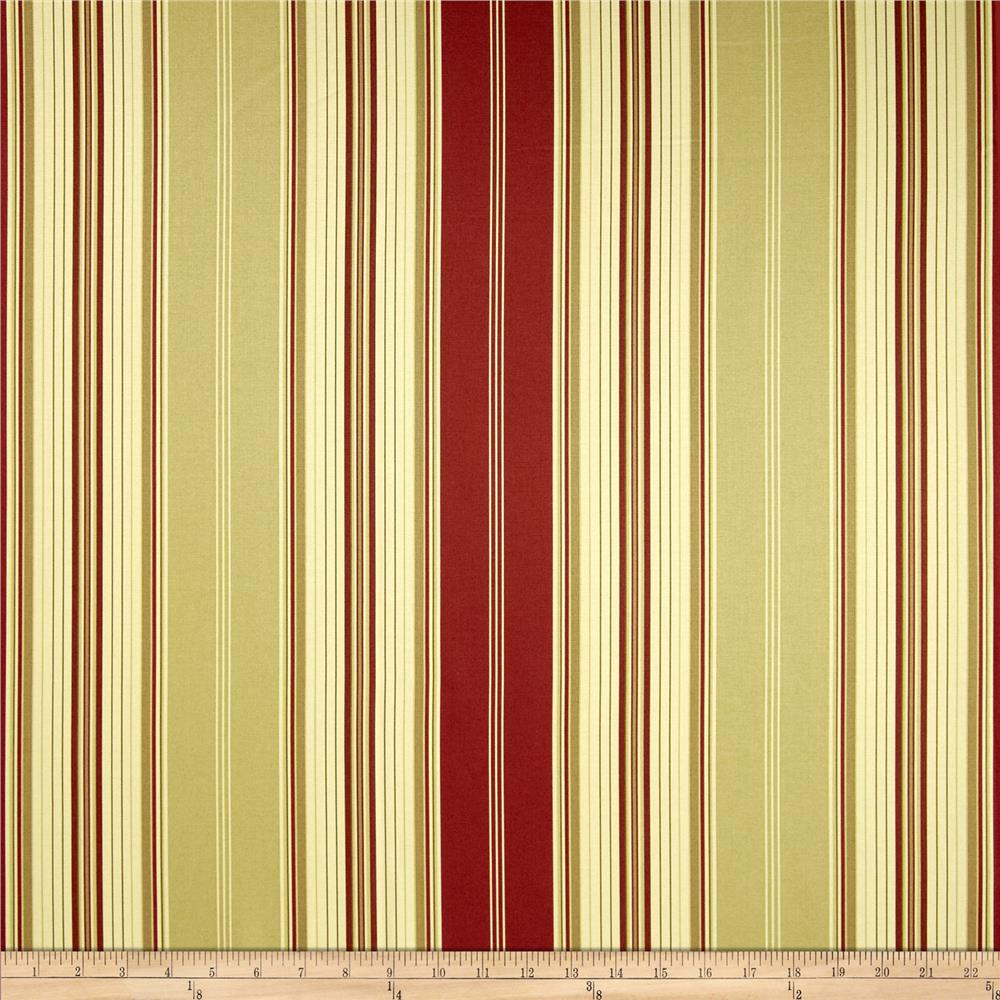 Waverly Down The Lane Stripe Twill Crimson