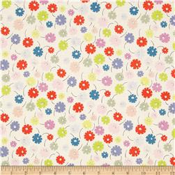 My World of Smiles Lazy Daisy Tea/Bright Fabric