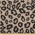 Stretch Hatchi Sweater Knit Cat Spots Black/Tan