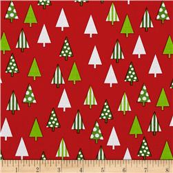 Kaufman Jingle 4 Trees Red