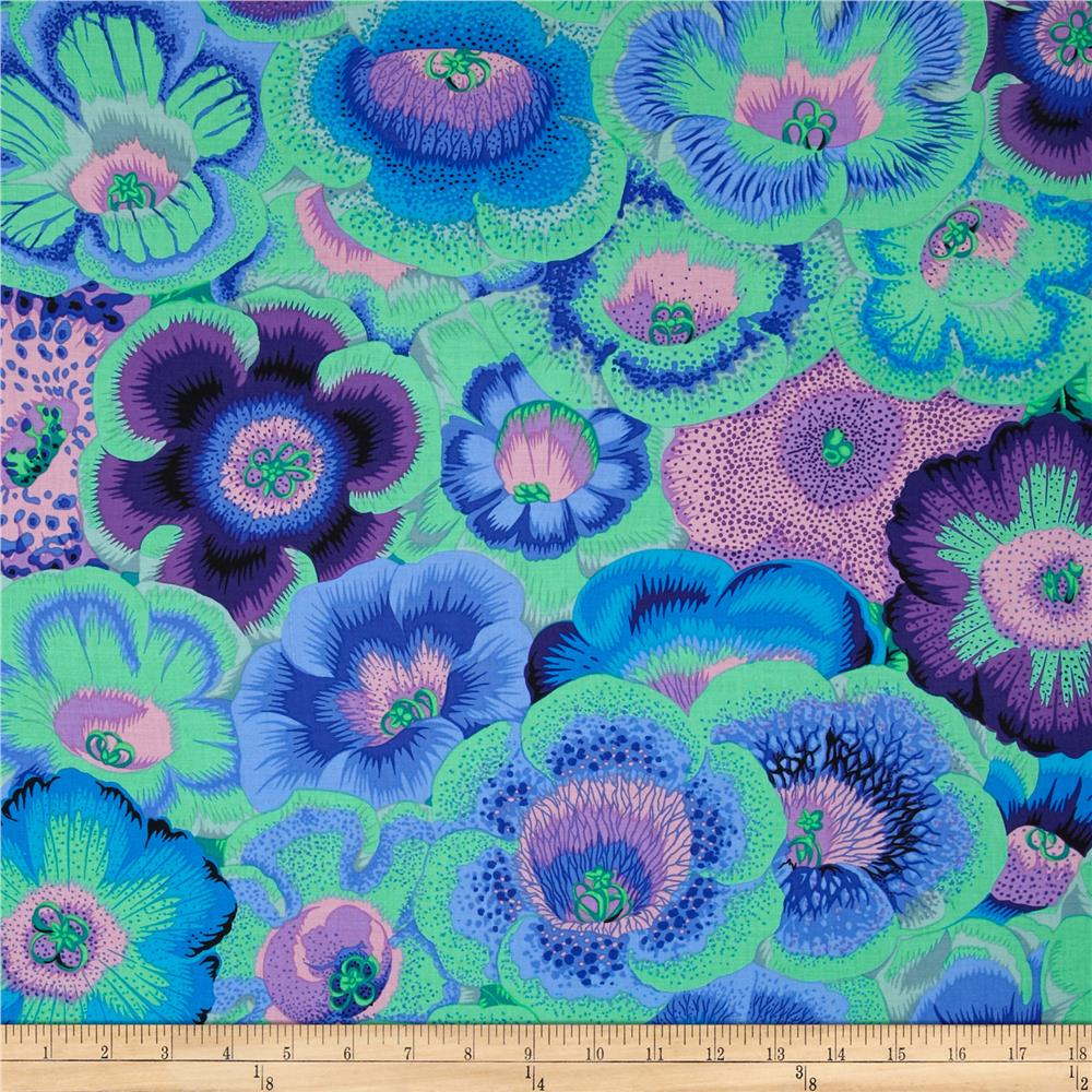 Kaffe Fassett Spring 2014 Collective Meadow Gloxinia's Blue