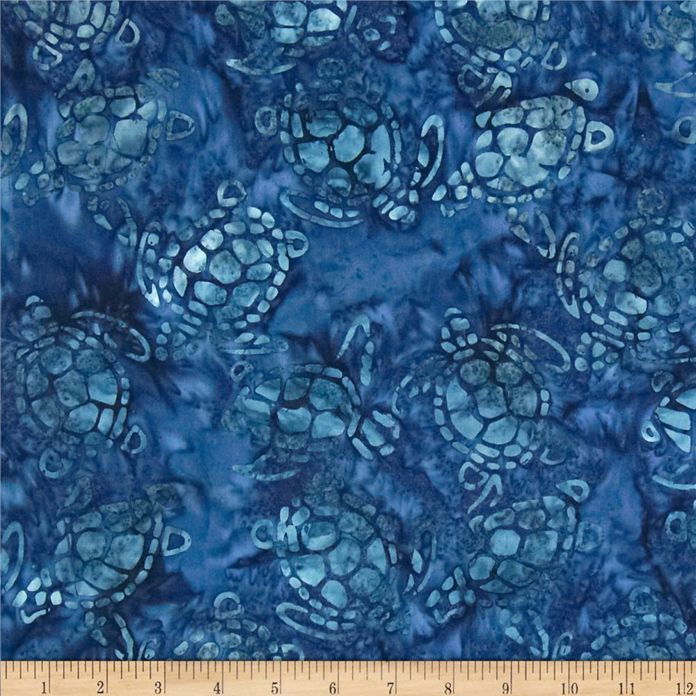 Michael Miller Batik Sea Turtles Navy
