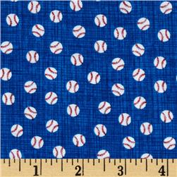 Timeless Treasures Mini Baseballs Blue