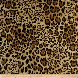 Cotton Jungle Voile Leopard Black/Gold