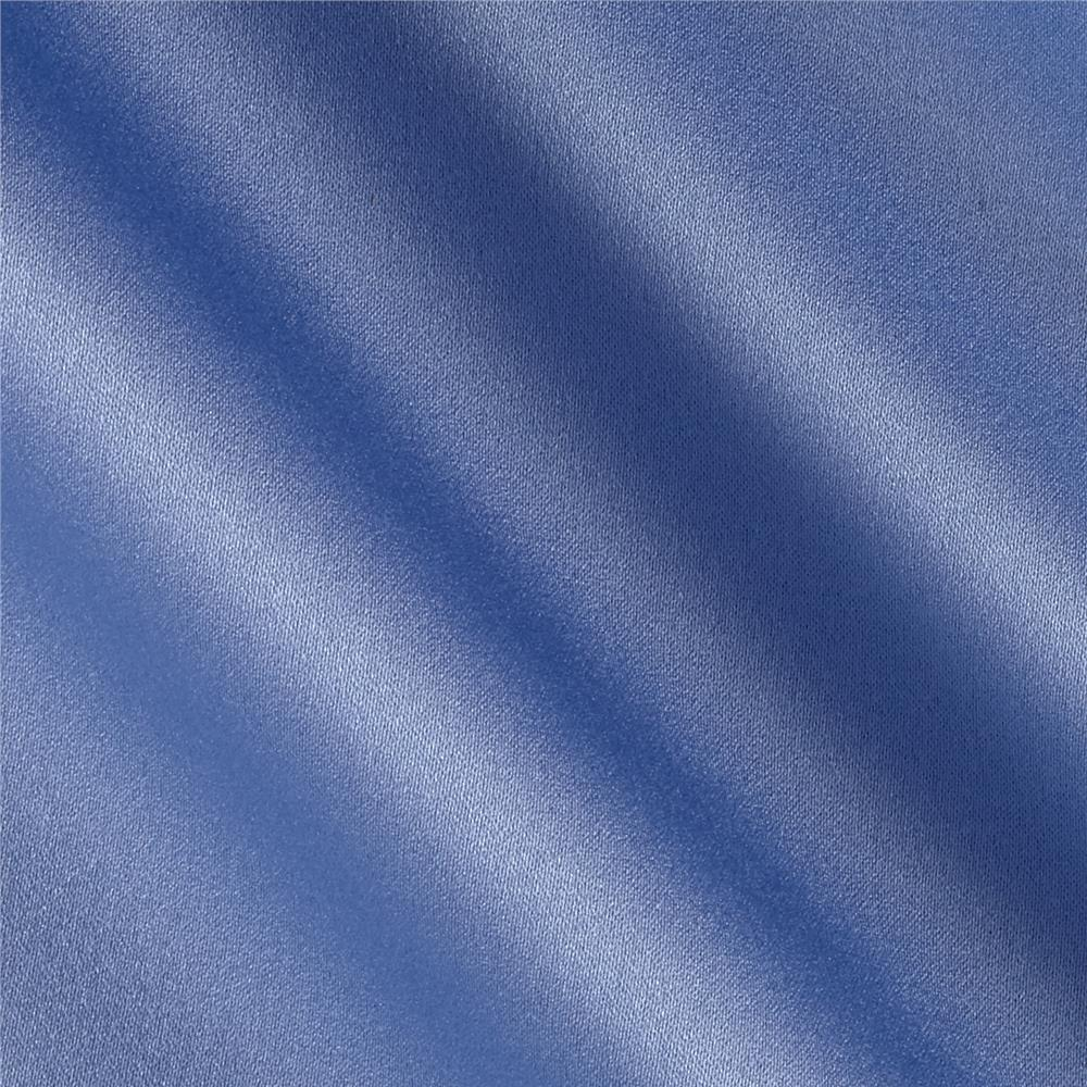 Satin Solid Sky Fabric By The Yard